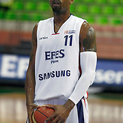 Efes Pilsen's Bootsy THORNTON during their Turkish Basketball league Play Off semi final first match Efes Pilsen between Besiktas at the Ayhan Sahenk Arena in Istanbul Turkey on Sunday 09 May 2010. Photo by Aykut AKICI/TURKPIX