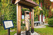 Historic inn along the Kupa River, Bosljiva Loka, Slovenia
