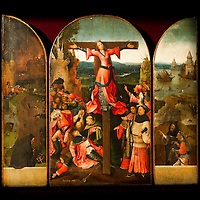 """""""Triptych of the Martyrdom of St Liberata"""" panels by Hieronymus Bosch on display at Palazzo Grimani. The  exhibition will be open until 20th March 2011"""