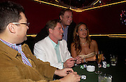 Val Kilmer and Jade Jagger with Anthony Holden. . PARTYPOKER.COM masterclass hosted by poker author Tony Holden. Ultra Lounge, Selfridges. 11 May 2005. ONE TIME USE ONLY - DO NOT ARCHIVE  © Copyright Photograph by Dafydd Jones 66 Stockwell Park Rd. London SW9 0DA Tel 020 7733 0108 www.dafjones.com