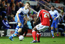 Peterborough United's Harry Anderson takes on Crewe Alexandra's Greg Leigh - Photo mandatory by-line: Joe Dent/JMP - Mobile: 07966 386802 - 14/04/2015 - SPORT - Football - Peterborough - ABAX Stadium - Peterborough United v Crewe Alexandra - Sky Bet League One
