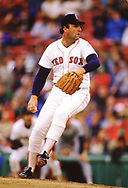 BOSTON - 1988:  Bob Stanley of the Boston Red Sox pitches during an MLB game at Fenway Park in Boston, Massachusetts  during the 1988 season. (Photo by Ron Vesely) Subject:   Bob Stanley