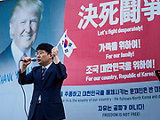 13 OCTOBER 2018 - SEOUL, SOUTH KOREA:  Thousands of people marched through central Seoul to protest South Korean President Moon Jae-in's rapprochement with North Korea. Moon's approval ratings have plunged in recent months, due mostly to a softening in the South Korean economy.     PHOTO BY JACK KURTZ