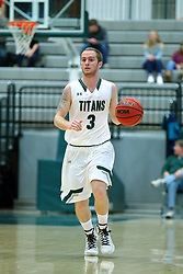 17 November 2017:  Nick Coleman during an College men's division 3 CCIW basketball game between the Alma Scots and the Illinois Wesleyan Titans in Shirk Center, Bloomington IL