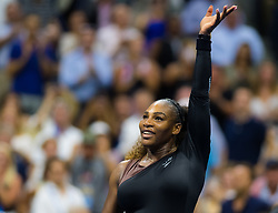 September 4, 2018 - Serena Williams of the United States in action during her quarter-final match at the 2018 US Open Grand Slam tennis tournament. New York, USA. September 04, 2018. (Credit Image: © AFP7 via ZUMA Wire)
