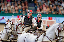 WEBER Chester (USA), Baccara, Maestoso 51 8, Maestoso Mano, Ordog,  Panda, Pottom<br /> Leipzig - Partner Pferd 2020<br /> TRAVEL CHARME Hotels & Resorts Trophy <br /> FEI Driving World Cup™<br /> FEI World Cup Qualifikation der Vierspänner<br /> Zeithindernisfahren für Vierspänner, international<br /> 19. Januar 2020<br /> © www.sportfotos-lafrentz.de/Stefan Lafrentz
