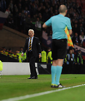 Football - 2016 / 2017 World Cup Qualifier - UEFA Group F: Scotland vs. Slovenia<br /> <br /> Gordon Strachan manager of Scotland complains to the linesman during the match at Hampden Park.<br /> <br /> COLORSPORT