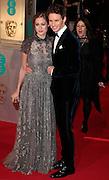 Feb 8, 2015 - EE British Academy Film Awards 2015 - Red Carpet Arrivals at Royal Opera House<br /> <br /> Pictured: Eddie Redmayne and Hannah Bagshawe<br /> ©Exclusivepix Media