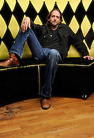 Music Artist Hayes Carll poses for a photo on April 14, 2011 at the Mercy Lounge in Nashville, Tenn. (AP Photo/Donn Jones)