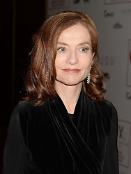 Isabelle Huppert arrives at the London Critics' Circle Film Awards at the May Fair Hotel in London.