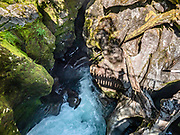 The Chasm was carved by Cleddau River in Fiordland National Park, Southland region, South Island of New Zealand. In 1990, UNESCO honored Te Wahipounamu - South West New Zealand as a World Heritage Area.