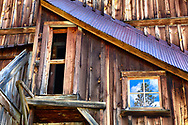 A historic mining structure in the ghost town ofAlta, Colorado