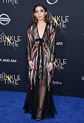 Rowan Blanchard attends the premiere of Disney's 'A Wrinkle In Time' at the El Capitan Theatre on February 26, 2018 in Los Angeles, California. Photo by Lionel Hahn/AbacaPress.com