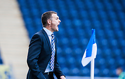 Queen of the South's manager Jim McIntyre.<br /> Falkirk 2 v 1 Queen of the South, Scottish Championship 5/10/2013, played at The Falkirk Stadium.<br /> ©Michael Schofield.
