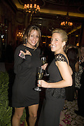 REBECCA LOOS AND VANESSA MIEDLER, The Tatler Travel Awards 2008. The Ritz, Piccadilly. London. 3 December 2007. -DO NOT ARCHIVE-© Copyright Photograph by Dafydd Jones. 248 Clapham Rd. London SW9 0PZ. Tel 0207 820 0771. www.dafjones.com.