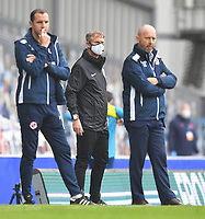 If everyone in the technical area has been tested and so have the referee and the linesman, why does the 4th official have to wear a mask?<br /> <br /> Photographer Dave Howarth/CameraSport<br /> <br /> The EFL Sky Bet Championship - Blackburn Rovers v Reading - Saturday 18th July 2020 - Ewood Park - Blackburn<br /> <br /> World Copyright © 2020 CameraSport. All rights reserved. 43 Linden Ave. Countesthorpe. Leicester. England. LE8 5PG - Tel: +44 (0) 116 277 4147 - admin@camerasport.com - www.camerasport.com