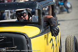 Joe Lockwood's 1930 Ford Model A Coupe at the Race of Gentlemen. Wildwood, NJ, USA. October 10, 2015.  Photography ©2015 Michael Lichter.