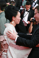 Director Naomi Kawase at the Still The Water gala screening red carpet at the 67th Cannes Film Festival France. Tuesday 20th May 2014 in Cannes Film Festival, France.