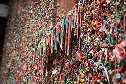 North America, United States, Washington, Seattle, famous wall with chewing gum at Pike Place Market