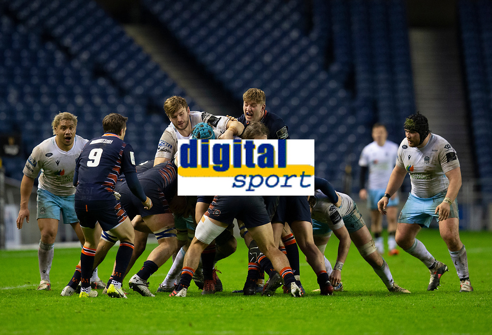 Rugby Union - 2020 / 2021 Guinness Pro-14 - Edinburgh vs Glasgow Warriors - Murrayfield<br /> <br /> Edinburgh Rugby and Glasgow Warriors players contest a maul<br /> <br /> COLORSPORT/BRUCE WHITE