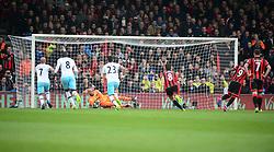 Darren Randolph of West Ham United saves Benik Afobe of Bournemouth penalty. - Mandatory by-line: Alex James/JMP - 11/03/2017 - FOOTBALL - Vitality Stadium - Bournemouth, England - Bournemouth v West Ham United - Premier League