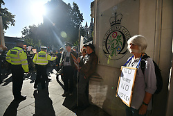 © Licensed to London News Pictures. 17/09/2019. London, UK. Media and Protestors gather at the The Supreme Court in London where an appeal has been made against a judicial review of Boris Johnson's suspension of Parliament. The case has been brought by remain campaigner Gina Miller, with support from former British Prime Minister John Major. Photo credit: Ben Cawthra/LNP