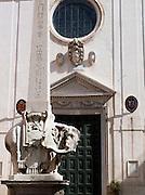 Bernini Elephant sculture, Santa Maria Sopra Minerva, Rome, Italy.