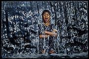 """Street child in fountain São Paulo, Brazil -  """"Where Little Children Suffer"""" THE OBSERVER MAGAZINE (UK)"""