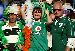 February 24, 2019 - Rome, Italy - Italy v Ireland - Rugby Guinness Six Nations.Ireland supporters at Olimpico Stadium in Rome, Italy on February 24, 2019. (Credit Image: © Matteo Ciambelli/NurPhoto via ZUMA Press)