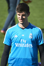 March 15, 2019 - Madrid, Madrid, Spain - Thibaut Courtois (goalkeeper; Real Madrid) during a training session at the Valdebebas training facilities on March 15, 2019 in Madrid, Spain (Credit Image: © Jack Abuin/ZUMA Wire)