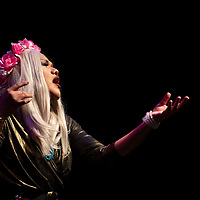 Lola Bah performing at the True Colors Drag and Talent Show, Saturday Sept. 29, 2018 at El Morro Theatre in Gallup as part of Pride weekend.