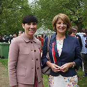 London,England,UK : 17 May 2016 : Minister of Defence  of Norway Ine Eriksen Søreide (L) Ambassador Mona Juul (R) the London Celebrates Norway Day on 17th May 1814 at Southwark park. Photo by See Li