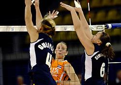 11-11-2007 VOLLEYBAL: PRE OKT: NEDERLAND - AZERBEIDZJAN: EINDHOVEN<br /> Nederland wint ook de de laatste wedstrijd. Azerbeidzjan verloor met 3-1 / Chaine Staelens<br /> ©2007-WWW.FOTOHOOGENDOORN.NL