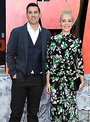 Brad Peyton (left) and Breanne Parhiala attending the European premiere of Rampage, held at the Cineworld in Leicester Square, London. Photo credit should read: Doug Peters/EMPICS Entertainment