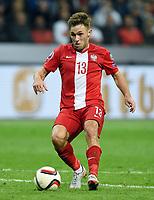 Fotball<br /> Tyskland v Polen<br /> 04.09.2015<br /> Foto: Witters/Digitalsport<br /> NORWAY ONLY<br /> <br /> Maciej Rybus (Polen)<br /> Fussball, EM-Qualifikation, Deutschland - Polen 3:1