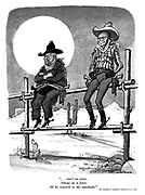 """""""...ain't no sense, sitting on the fence, all by yourself in the moonlight."""""""