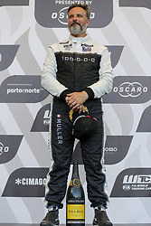 June 23, 2018 - Vila Real, Vila Real, Portugal - Yvan Muller from France in Hyundai i30 N TCR of MRacing - YMR celebrating the first place of race 1 in the podium ceremony of FIA WTCR 2018 World Touring Car Cup Race of Portugal, Vila Real, June 23, 2018. (Credit Image: © Dpi/NurPhoto via ZUMA Press)