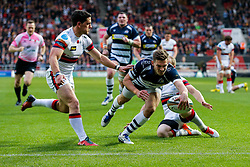 Bristol Rugby Scrum-Half Will Cliff scores a try - Mandatory byline: Rogan Thomson/JMP - 25/05/2016 - RUGBY UNION - Ashton Gate Stadium - Bristol, England - Bristol Rugby v Doncaster Knights - Greene King IPA Championship Play Off FINAL 2nd Leg.