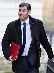 London, December 19 2017. Secretary of State for Work and Pensions David Gauke arrives at 10 Downing Street for the last cabinet meeting before the Christmas break. © Paul Davey