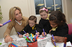 Image ©Licensed to i-Images Picture Agency. 18/12/2014. London, United Kingdom. <br /> <br /> Penny Lancaster visits Charlton Manor Primary School where the Mayors Fund initiative 'Penny for London' is raising money to fund breakfasts for school children.<br /> <br /> Picture by Ben Stevens / i-Images