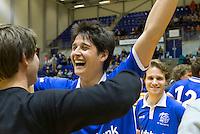 ROTTERDAM - Pieter Wiegman (Kampong) tijdens de  finale zaalhockey om het Nederlands kampioenschap tussen de  mannen van Amsterdam en Kampong. ANP KOEN SUYK