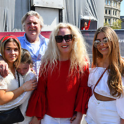 Lydia Bright family attend the Feast of St George to celebrate English culture with music and English food stalls in Trafalgar Square on 20 April 2019, London, UK.
