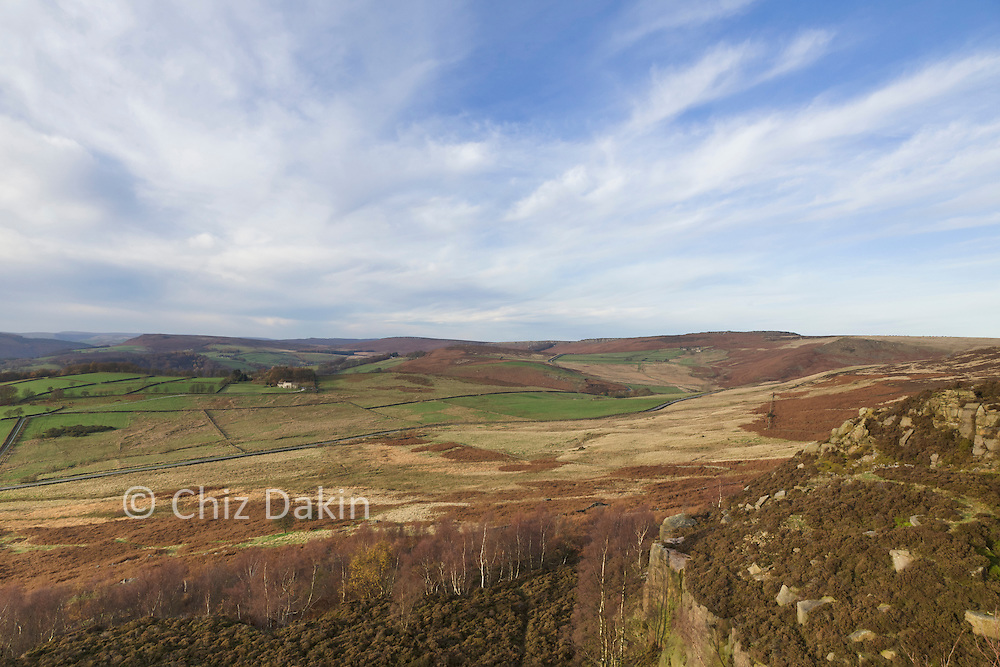 View towards Stanage from Millstone Edge