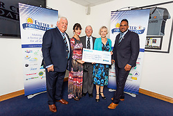 The Exeter Dementia Action Alliance Charity receives their cheque - Ryan Hiscott/JMP - 06/08/2018 - RUGBY - Sandy Park - Exeter, England - Exeter Chiefs Season Launch Dinner