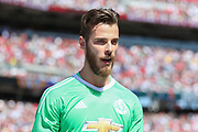Manchester United Goalkeeper David De Gea during the AON Tour 2017 match between Real Madrid and Manchester United at the Levi's Stadium, Santa Clara, USA on 23 July 2017.