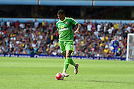 Patrick van Aanholt of Sunderland in action. Barclays Premier League match, Aston Villa v Sunderland at Villa Park in Birmingham, Midlands on Saturday 29th August  2015.<br /> pic by Andrew Orchard, Andrew Orchard sports photography.