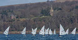 The annual RYA Youth National Championships is the UK's premier youth racing event. Perfect conditions for the fourth days racing.<br /> <br /> Knock Castle with laser Radial fleet<br /> <br /> Images: Marc Turner / RYA<br /> <br /> For further information contact:<br /> <br /> Richard Aspland, <br /> RYA Racing Communications Officer (on site)<br /> E: richard.aspland@rya.org.uk<br /> m: 07469 854599