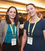 20/11/2014  repro free  Claire Burns , Claire Burna and Co Accountants and Rebecca Fitzgerlad Kemple Gormley Solictors at the Galway Bay Hotel for the two day conference Meet West attracting over 400 business people from around Ireland for the largest networking event in the Country . Photo:Andrew Downes