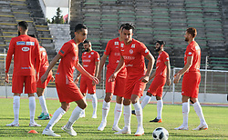 TUNIS, June 5, 2018  Tunisian football team players attend a training session in preparation for 2018 FIFA World Cup in Tunis capital of Tunisia, June 4, 2018. (Credit Image: © Adele Ezzine/Xinhua via ZUMA Wire)