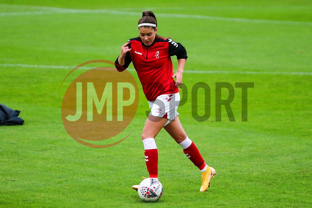 Carla Humphrey of Bristol City Women during warm-up - Mandatory by-line: Will Cooper/JMP - 18/10/2020 - FOOTBALL - Twerton Park - Bath, England - Bristol City Women v Birmingham City Women - Barclays FA Women's Super League